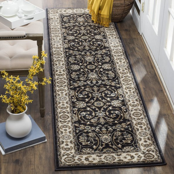 Anthracite, Cream (D) Traditional / Oriental Area-Rugs