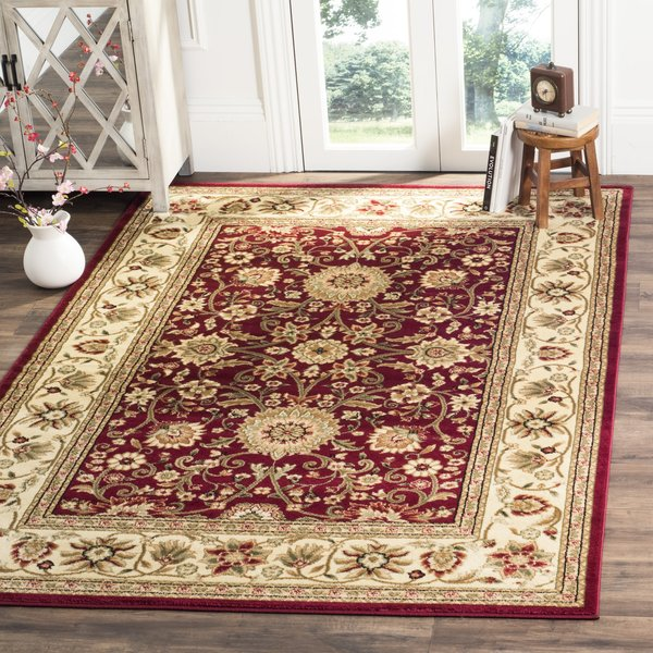 Red, Ivory (F) Traditional / Oriental Area-Rugs