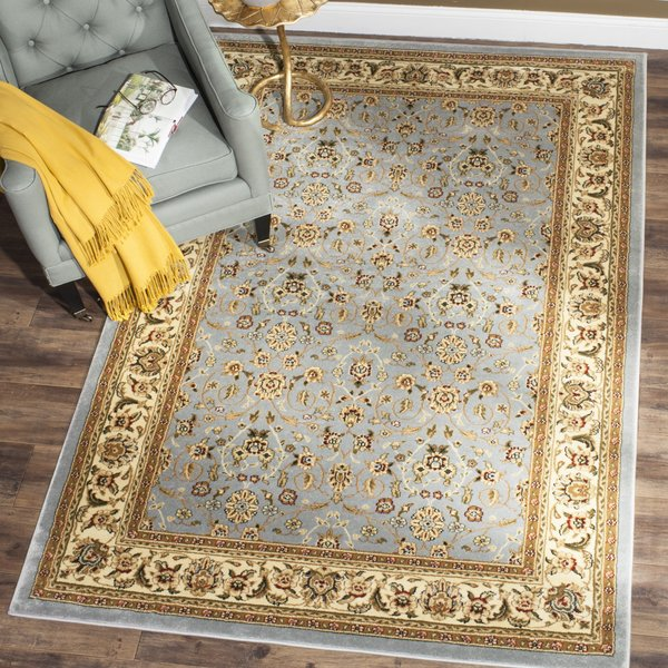 Light Blue, Ivory (B) Traditional / Oriental Area-Rugs