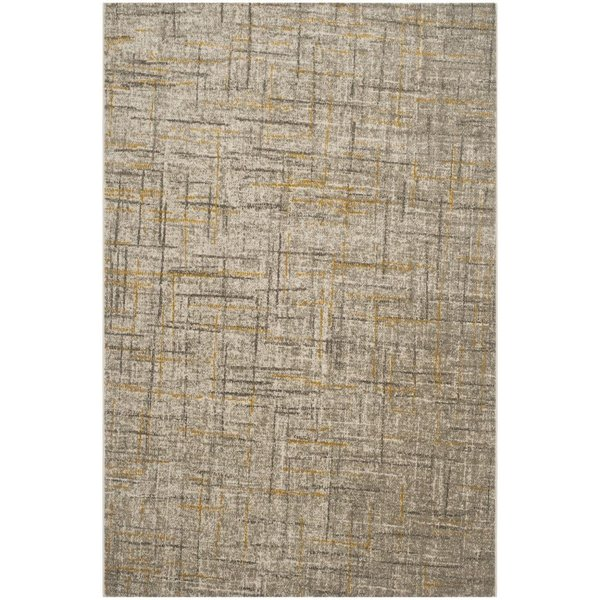 Grey, Dark Grey (A) Contemporary / Modern Area Rug