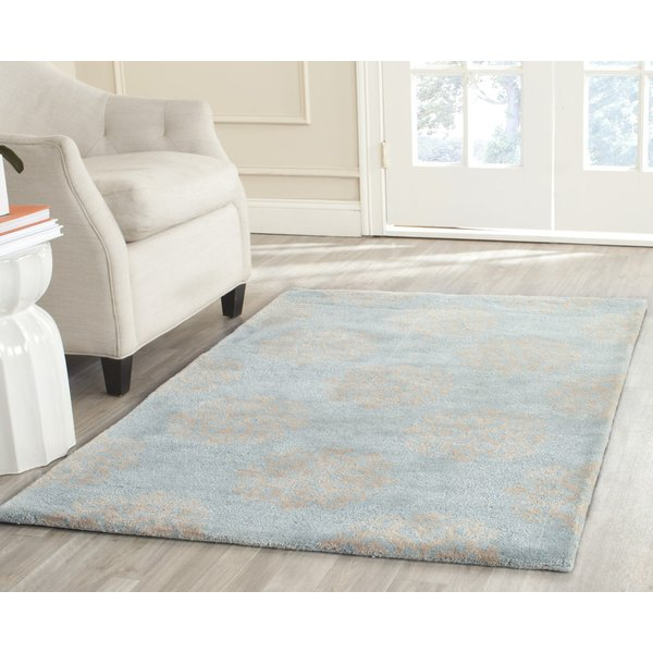 Turquoise, Yellow (A) Contemporary / Modern Area Rug