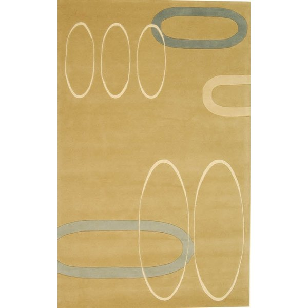 Beige (A) Contemporary / Modern Area-Rugs