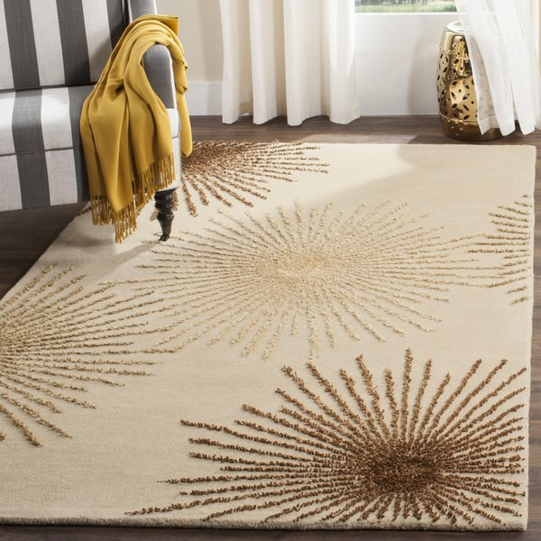 Beige (A) Contemporary / Modern Area Rug