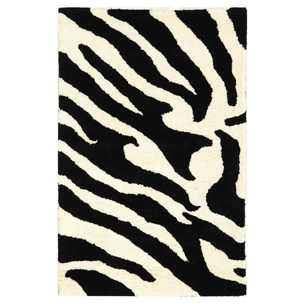 White, Black (A) Contemporary / Modern Area-Rugs