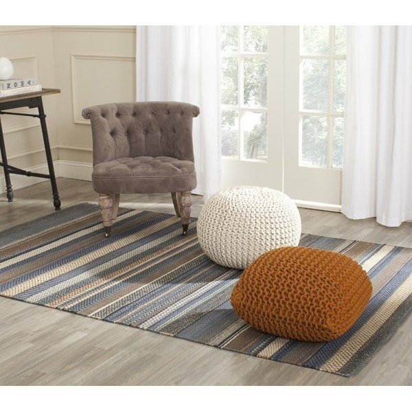 Blue (A) Striped Area-Rugs