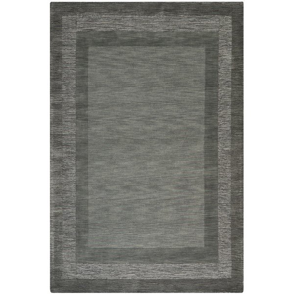 Charcoal, Blue (B) Contemporary / Modern Area Rug