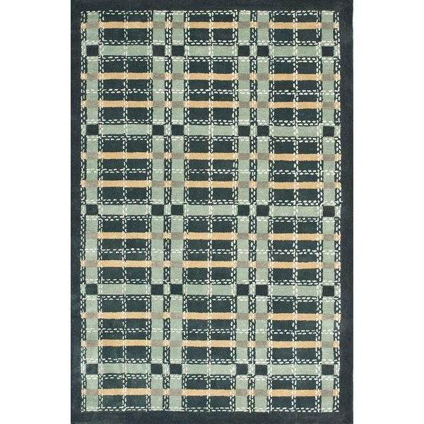 Wrought Iron Navy (MSR-3613B) Country Area Rug