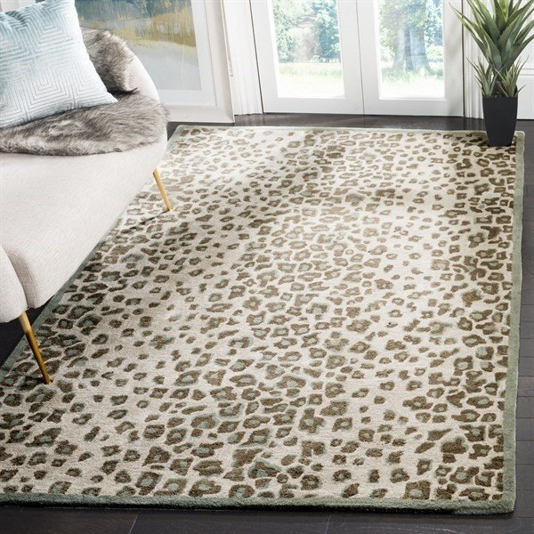 Grassland Green (MSR-3621A) Contemporary / Modern Area Rug