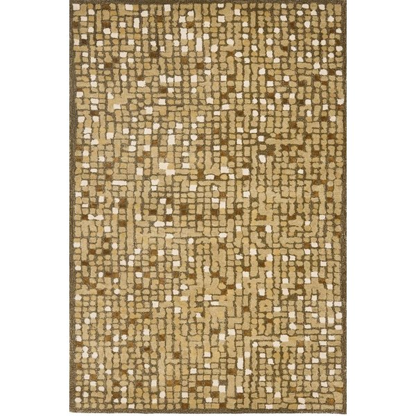 Oolong Tea Green (MSR-3623A) Abstract Area-Rugs