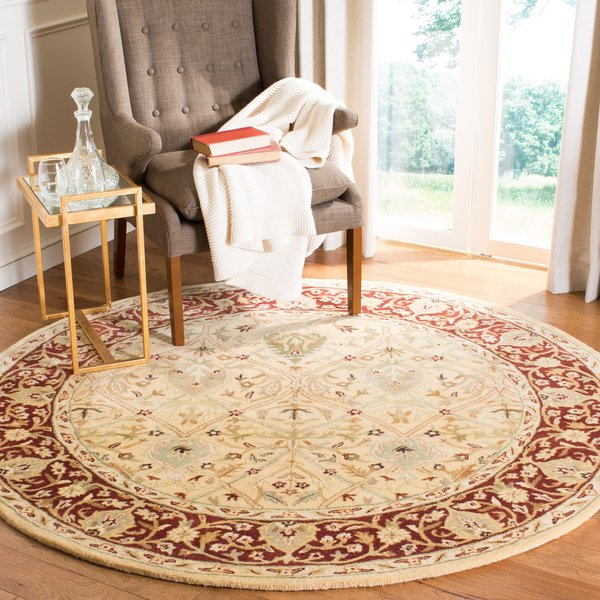 Ivory, Rust (D) Traditional / Oriental Area Rug
