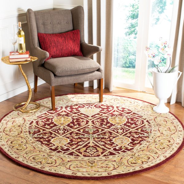 Red, Gold (K) Traditional / Oriental Area Rug