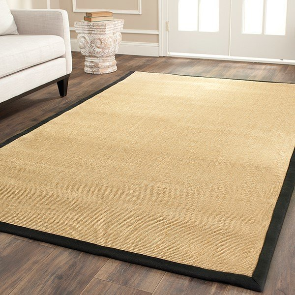 Maze, Black (A) Natural Fiber Area Rug