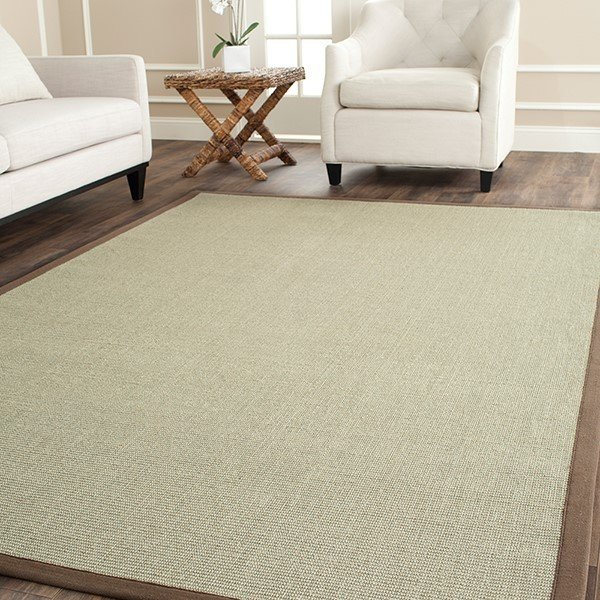 Taupe, Light Brown (F) Natural Fiber Area-Rugs
