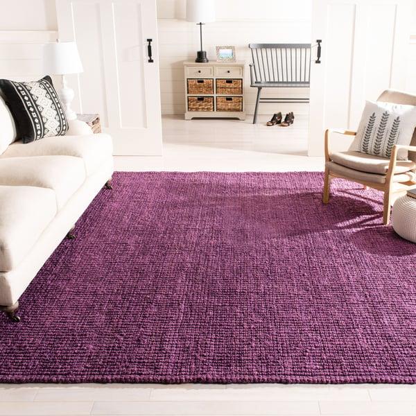 Purple (B) Natural Fiber Area-Rugs