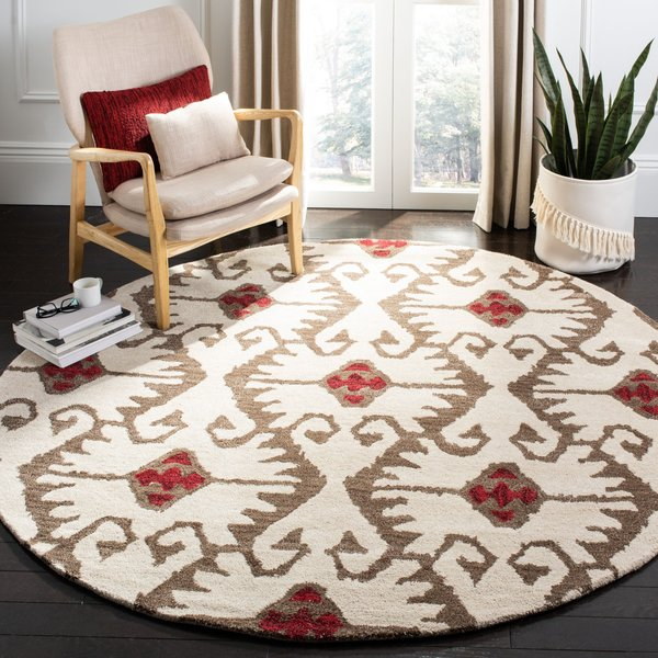 Ivory, Brown (B) Moroccan Area Rug