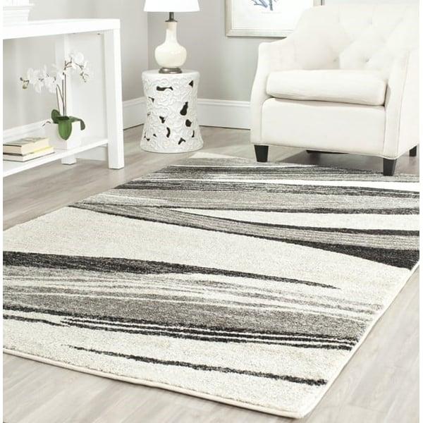 Light Grey, Ivory (7912) Contemporary / Modern Area Rug