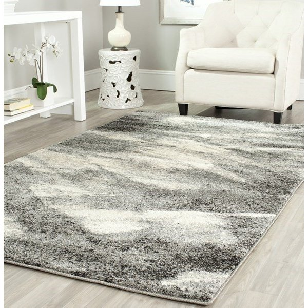 Grey, Ivory (8012) Contemporary / Modern Area Rug