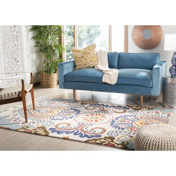Ivory, Blue (A) Traditional / Oriental Area Rug
