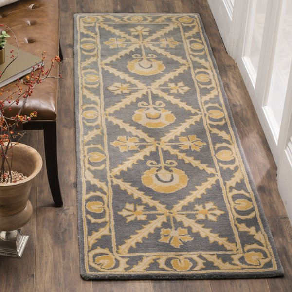 Blue, Gold (A) Traditional / Oriental Area Rug