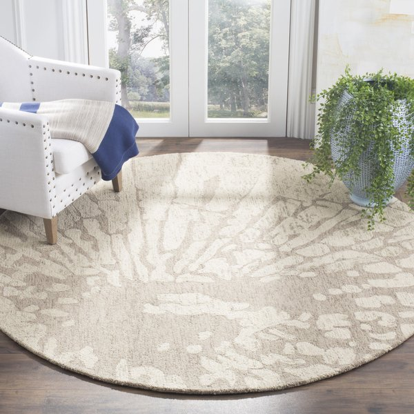 Winter, Taupe (A) Contemporary / Modern Area Rug