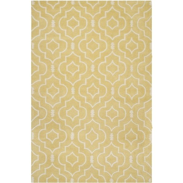 Light Gold, Ivory (L) Contemporary / Modern Area Rug