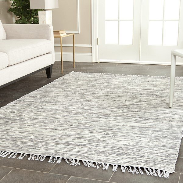 Silver (A) Contemporary / Modern Area Rug
