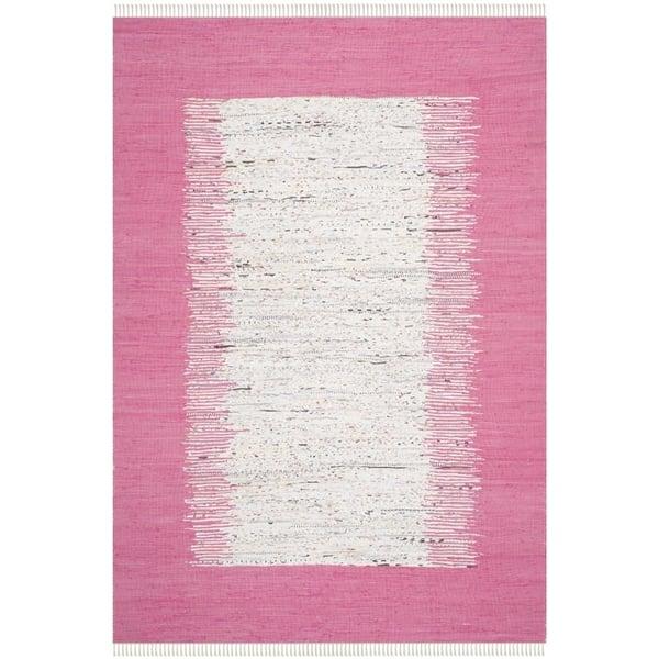 Ivory, Pink (A) Bohemian Area Rug