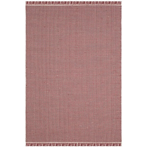 Ivory, Red (C) Contemporary / Modern Area Rug