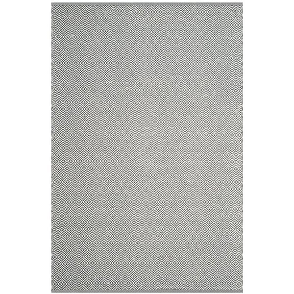 Ivory, Grey (C) Contemporary / Modern Area Rug