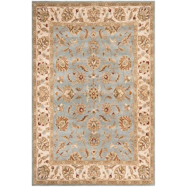 Blue, Beige (B) Traditional / Oriental Area Rug