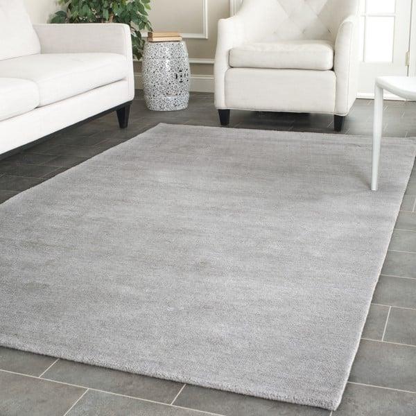 Grey (K) Solid Area Rug