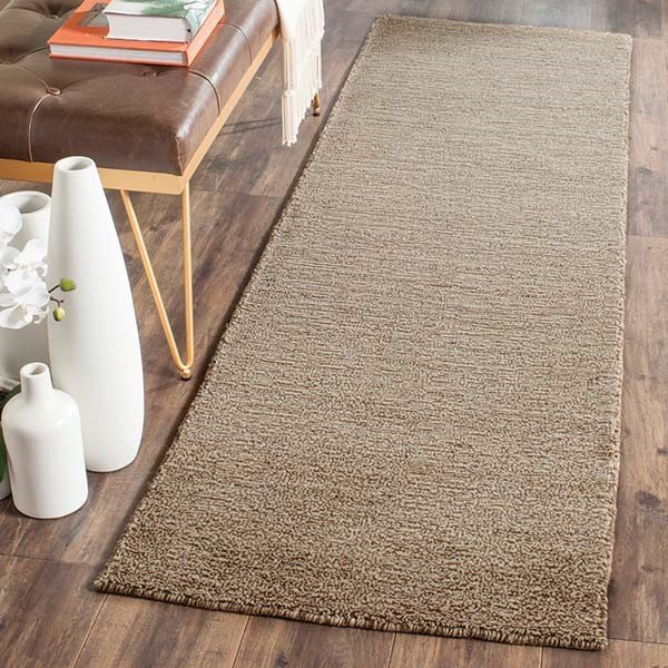Brown (B) Solid Area-Rugs