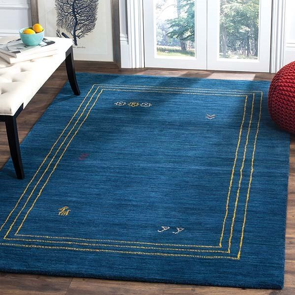 Blue (A) Moroccan Area-Rugs