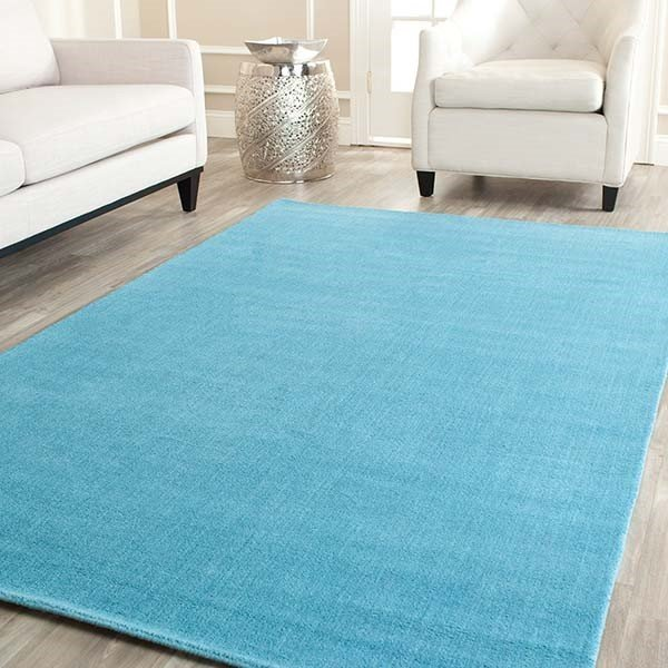 Turquoise (A) Solid Area-Rugs