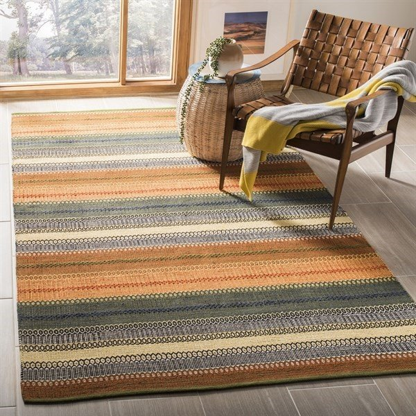 Gold, Grey (STK-412A) Striped Area Rug