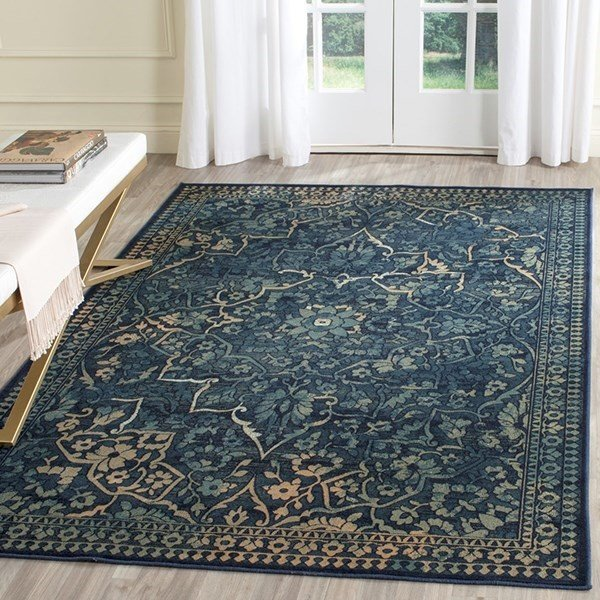 Blue, Yellow (2333) Traditional / Oriental Area Rug