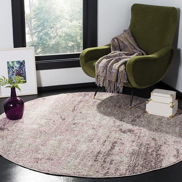 Light Grey, Purple (M) Vintage / Overdyed Area Rug