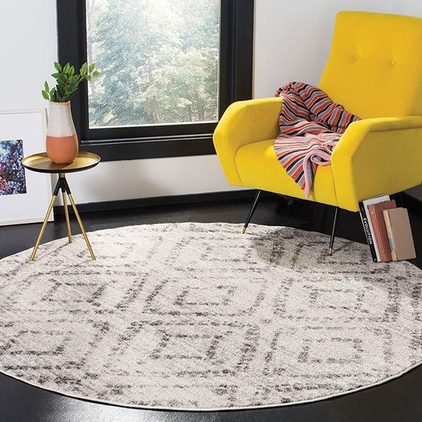 Light Grey, Grey (C) Contemporary / Modern Area Rug