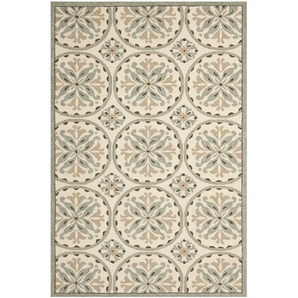 Green, Brown (A) Traditional / Oriental Area Rug