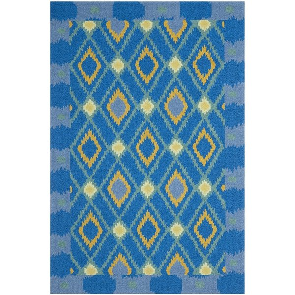 Indigo, Yellow (D) Bohemian Area Rug