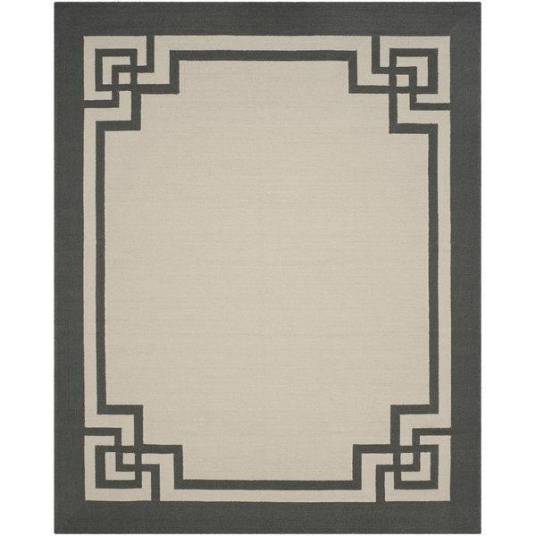 Ivory, Charcoal (T) Contemporary / Modern Area Rug