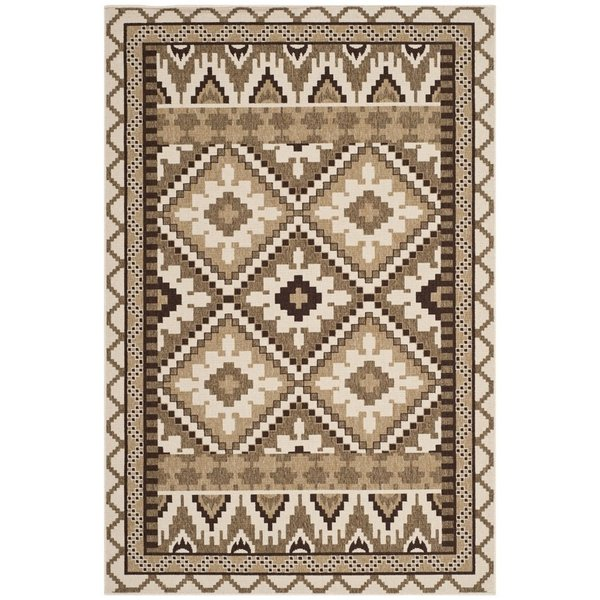 Creme, Brown (0215) Southwestern Area Rug