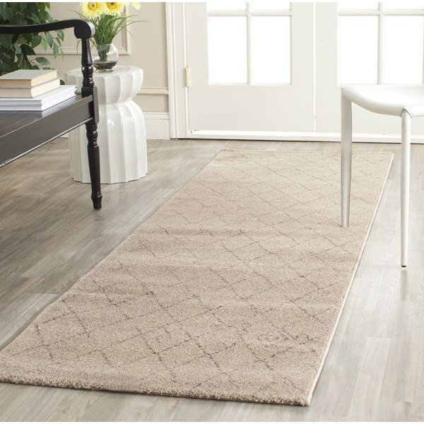 Ivory (KMK) Moroccan Area Rug