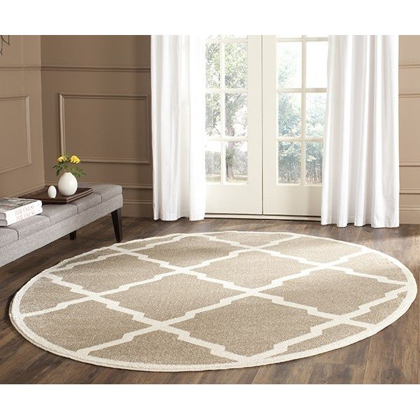 Wheat, Beige (S) Contemporary / Modern Area-Rugs