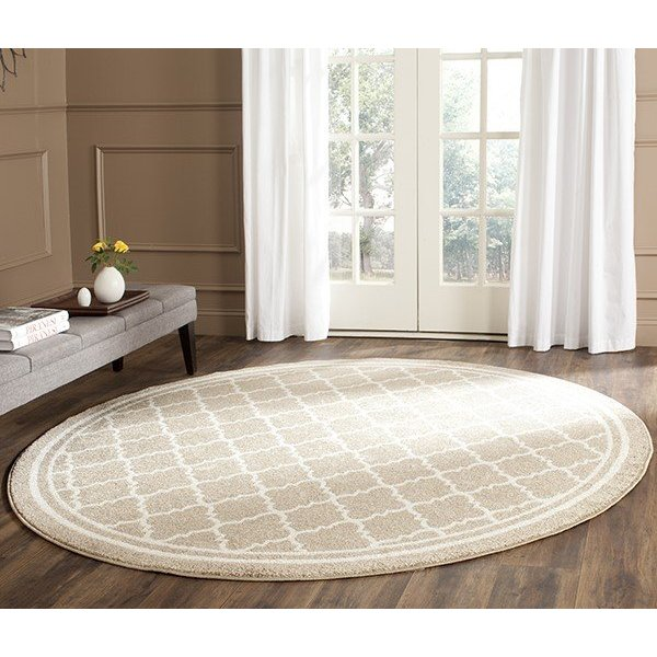 Wheat, Beige (S) Contemporary / Modern Area Rug