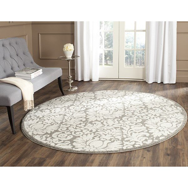 Dark Grey, Beige (R) Traditional / Oriental Area Rug