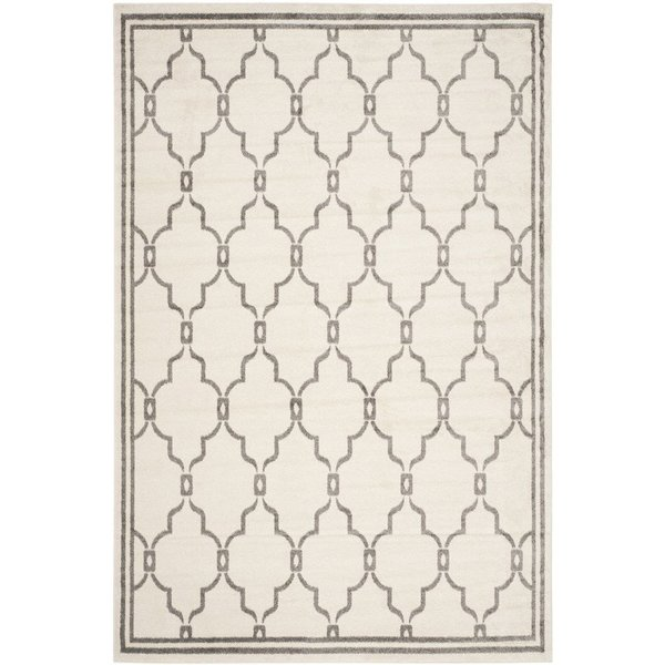 Ivory, Grey (K) Contemporary / Modern Area-Rugs