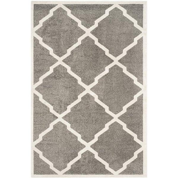 Dark Grey, Beige (R) Contemporary / Modern Area-Rugs