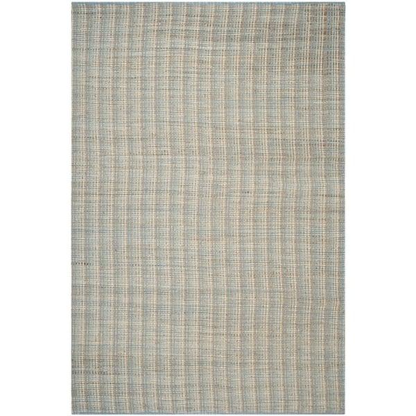 Grey (B) Striped Area-Rugs