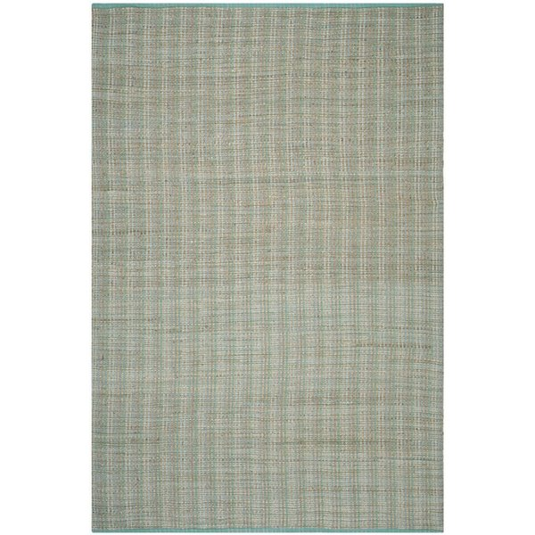 Green (C) Striped Area Rug